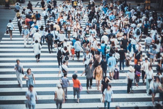 田舎者が車で都会の横断歩道を渡るときは人に気を付ける
